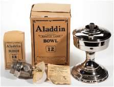 ALADDIN MODEL 12 NICKEL KEROSENE MANTLE LAMP
