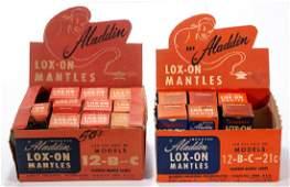 ALADDIN MODELS 12, B, C, AND 21C LOX-ON MANTLES, LOT OF