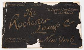 THE ROCHESTER LAMP CO NEW YORK DEALER  TRADE