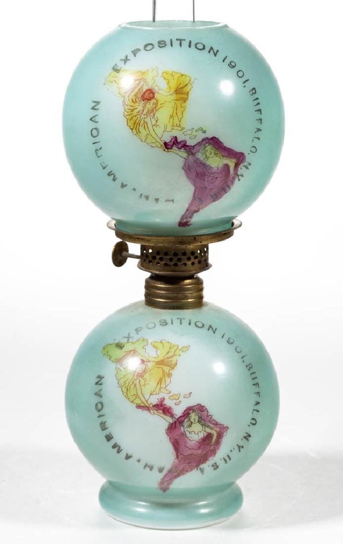 1901 PAN-AMERICAN EXPOSITION DECORATED OPAL MINIATURE