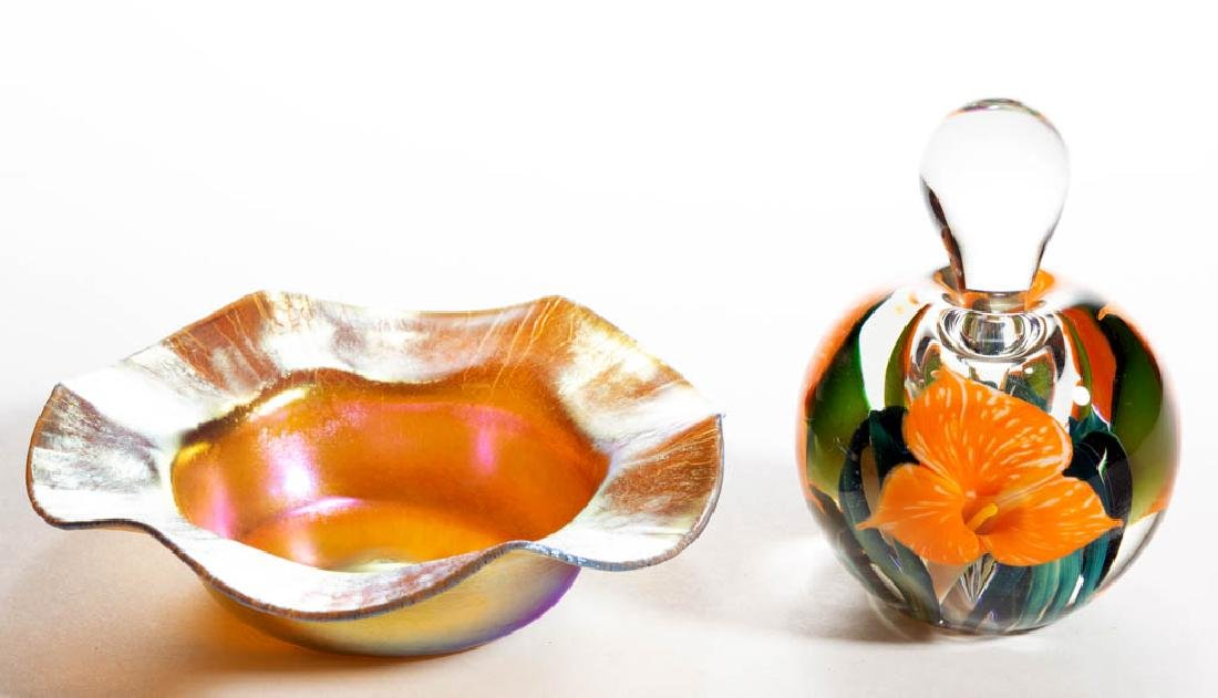 STEUBEN GOLD AURENE ART GLASS DISH