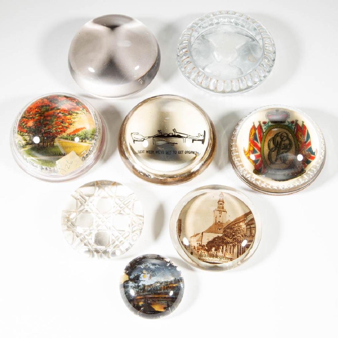 ASSORTED GLASS PAPERWEIGHTS, LOT OF EIGHT