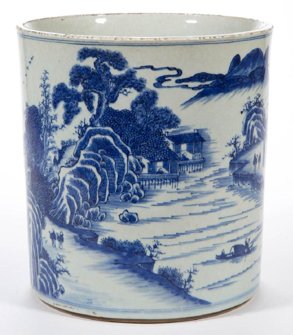 CHINESE EXPORT QING-STYLE PORCELAIN BLUE AND WHITE - 2