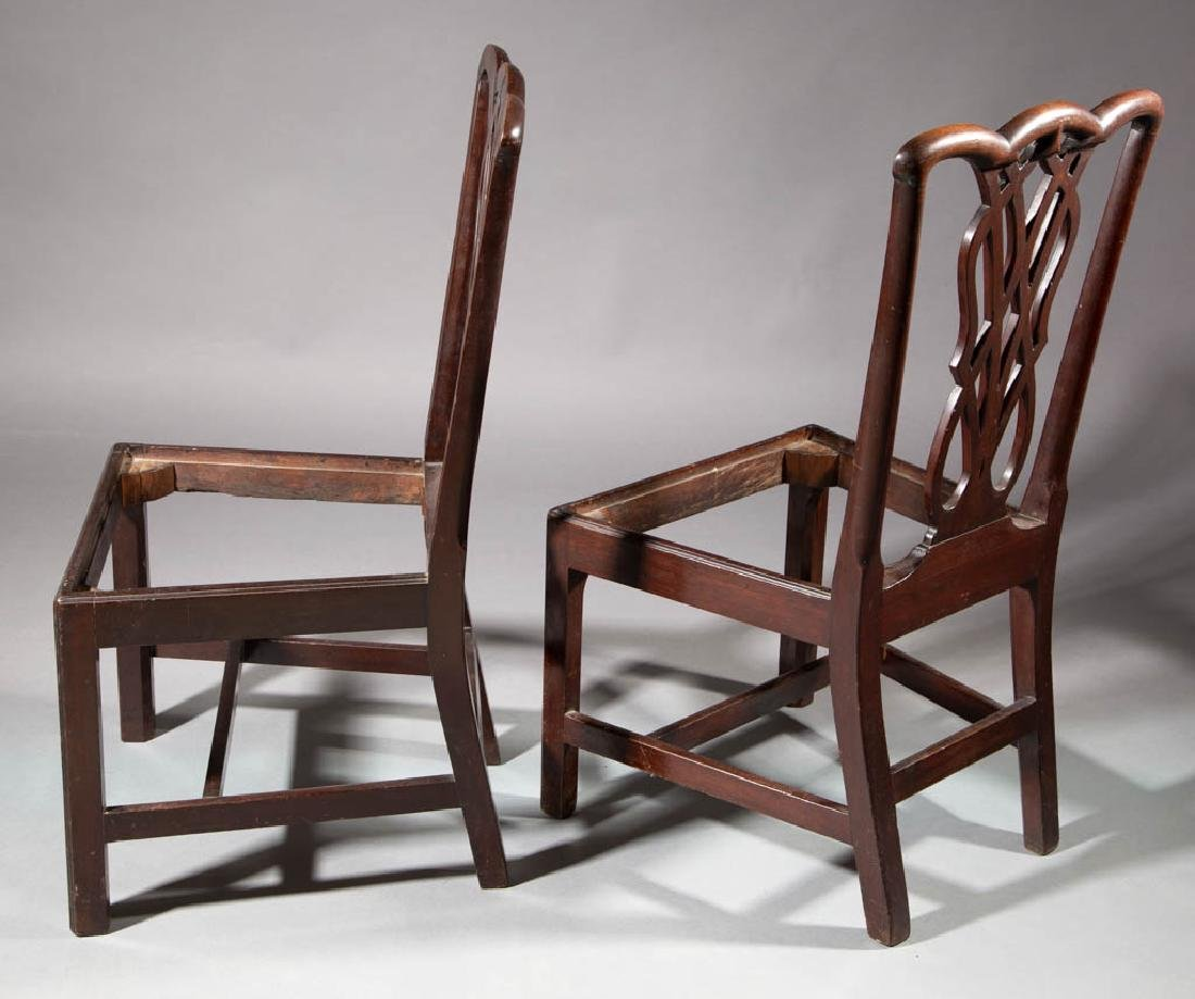 GEORGIAN CARVED MAHOGANY PAIR OF SIDE CHAIRS - 3