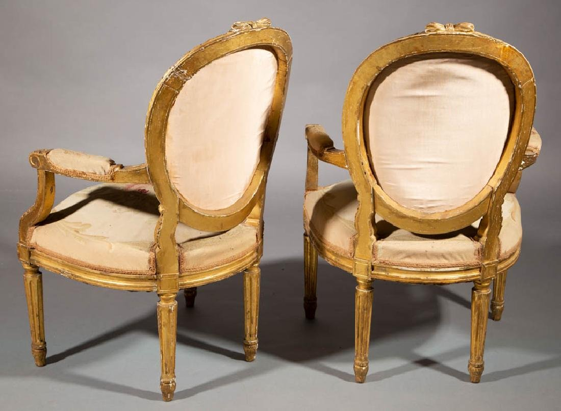 FRENCH LOUIS XV-STYLE CARVED GILTWOOD SALON / PARLOR - 4