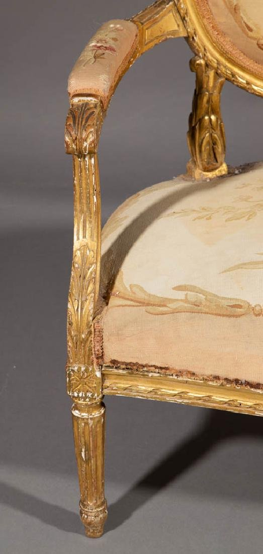 FRENCH LOUIS XV-STYLE CARVED GILTWOOD SALON / PARLOR - 6