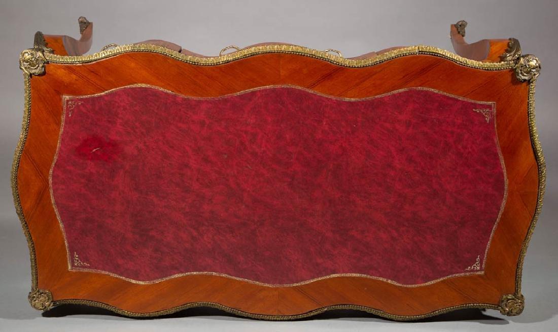 FRENCH LOUIS XV-STYLE INLAID BUREAU PLAT DESK / TABLE - 3