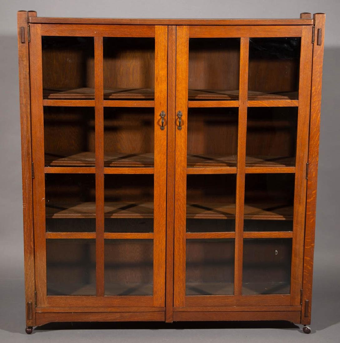 STICKLEY BROTHERS ARTS & CRAFTS / MISSION OAK BOOKCASE