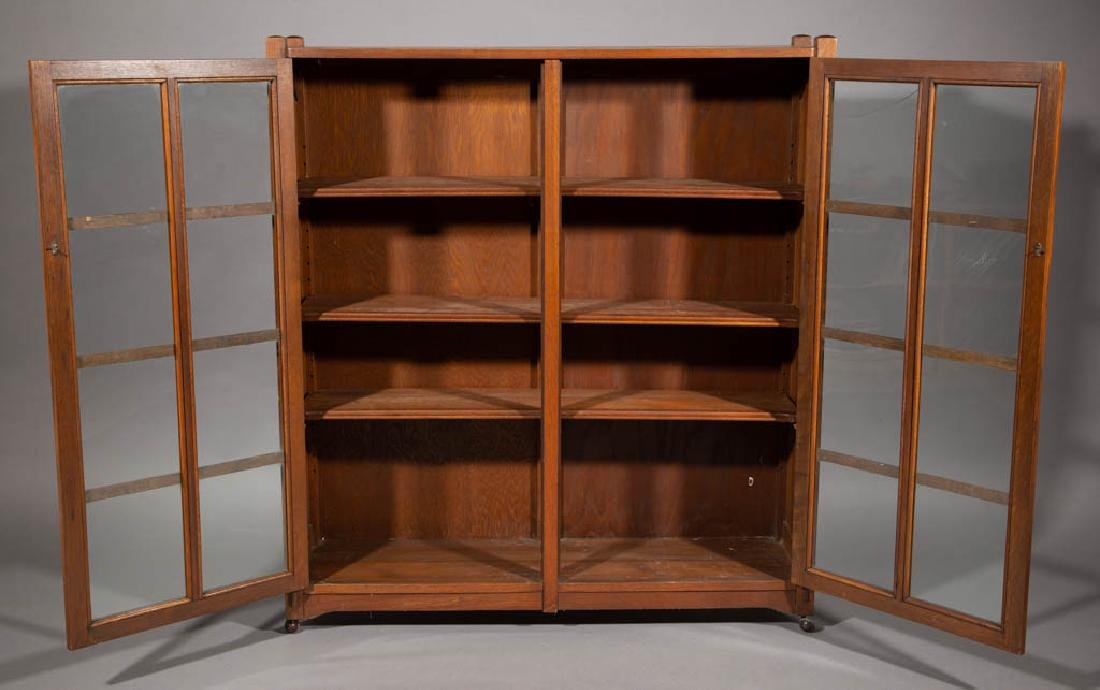 STICKLEY BROTHERS ARTS & CRAFTS / MISSION OAK BOOKCASE - 2