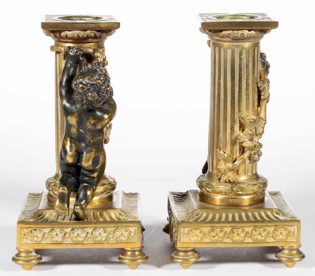 FRENCH CLASSICAL-STYLE GILT BRONZE THREE-PIECE FIGURAL - 6
