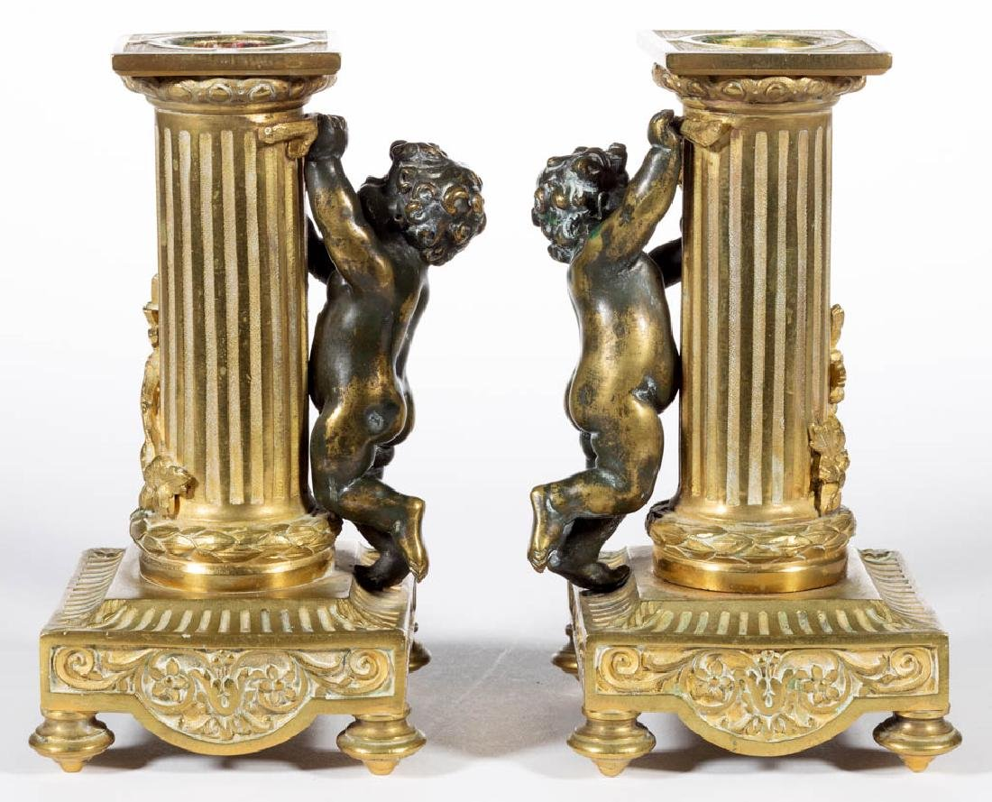 FRENCH CLASSICAL-STYLE GILT BRONZE THREE-PIECE FIGURAL - 7