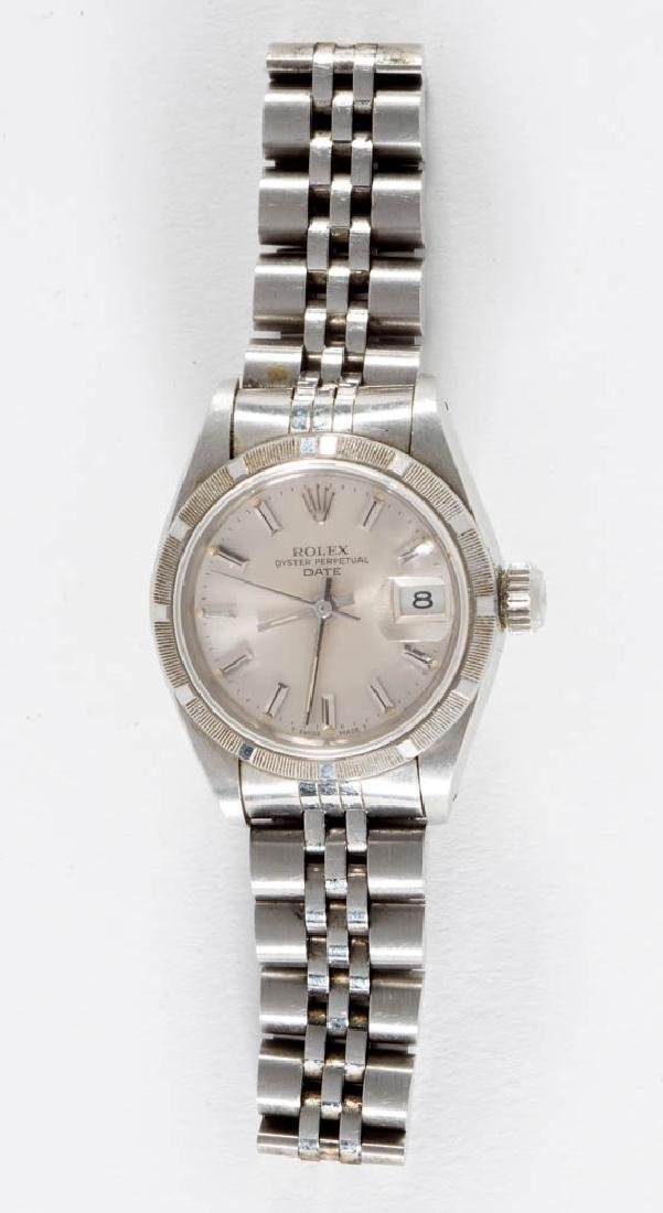 VINTAGE ROLEX OYSTER PERPETUAL DATE STEEL LADY'S WRIST