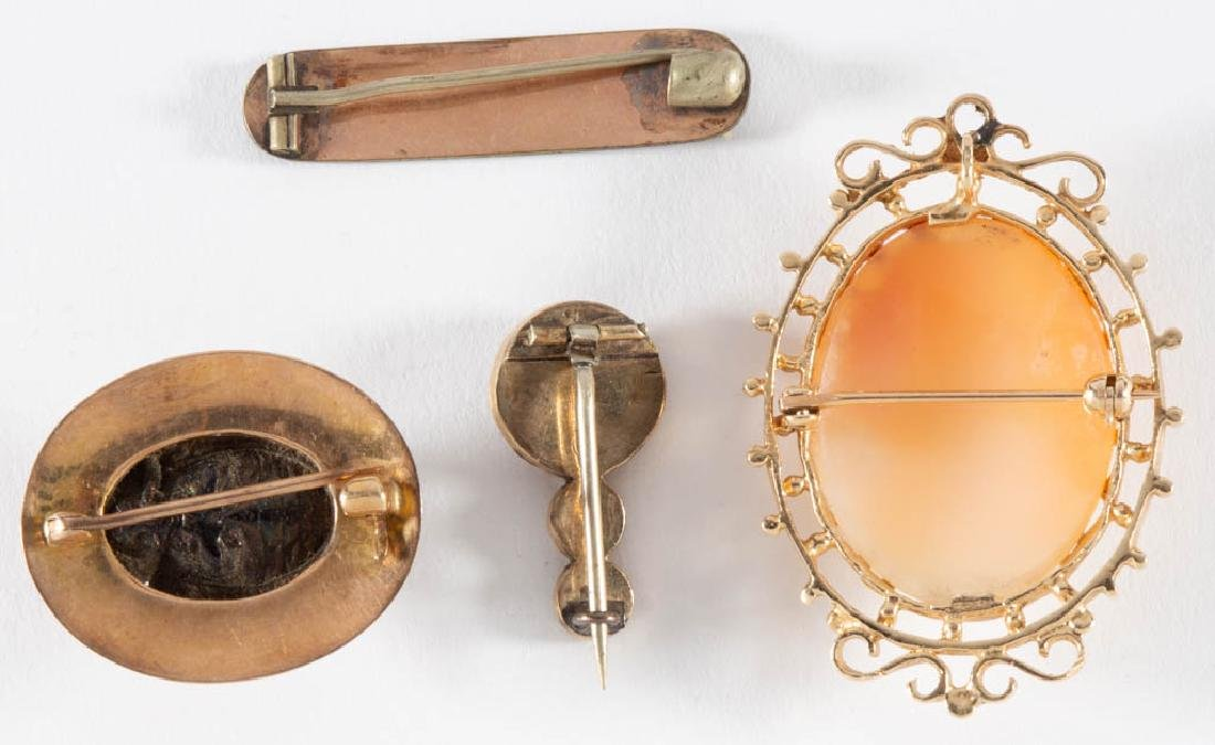 ANTIQUE / VINTAGE 14K GOLD BROOCHES / PINS, LOT OF FOUR - 2