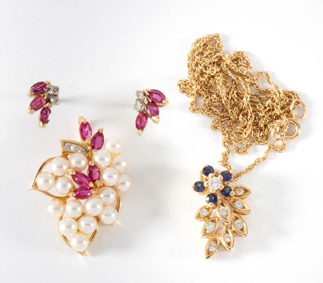 10K AND 14K YELLOW GOLD, MELEE DIAMOND, AND SPINEL
