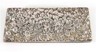 GORHAM REPOUSSE STERLING SILVER TOPPED EYEGLASSES CASE