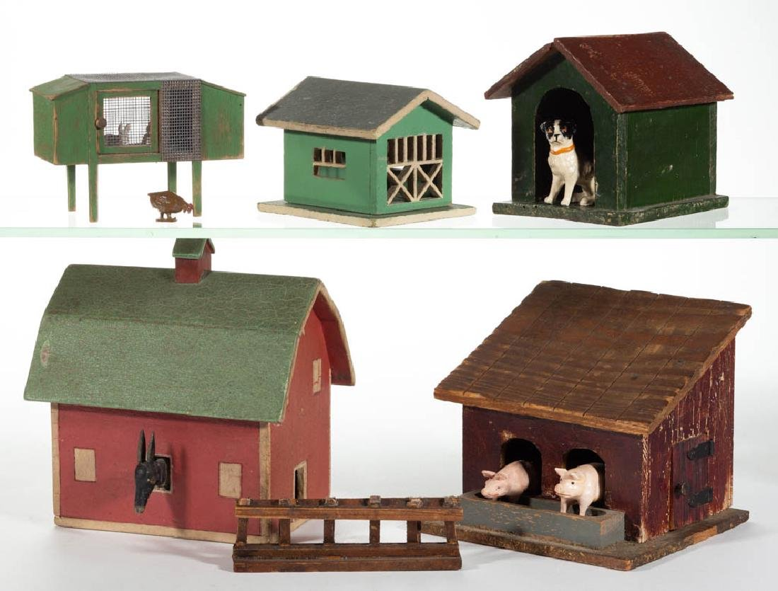 GERMAN AND OTHER FARM BUILDING AND ANIMAL FIGURES, LOT