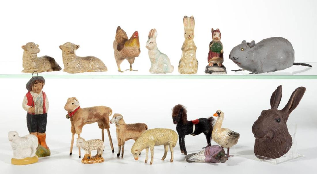 ASSORTED COMPOSITION / PAPIER MACHE AND OTHER ANIMAL