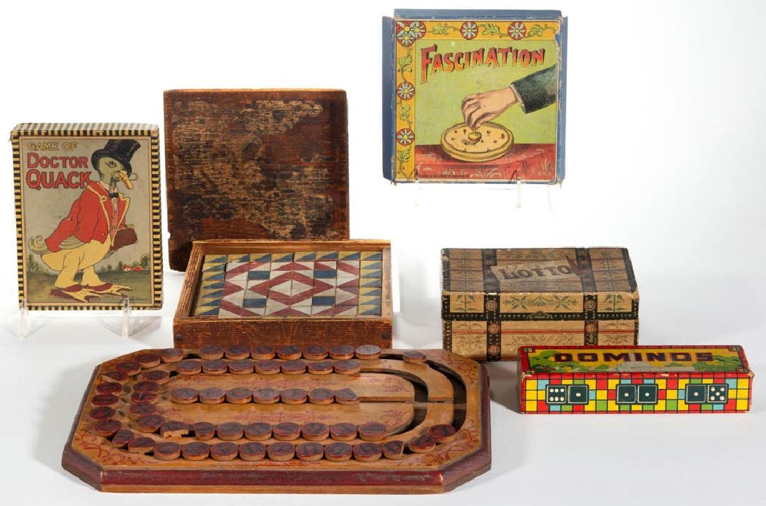 ASSORTED ANTIQUE AND VINTAGE GAMES AND TOYS, UNCOUNTED