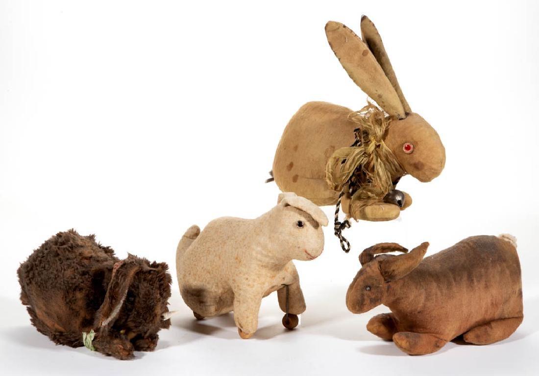 VINTAGE RABBIT STUFFED ANIMAL TOYS, LOT OF FOUR