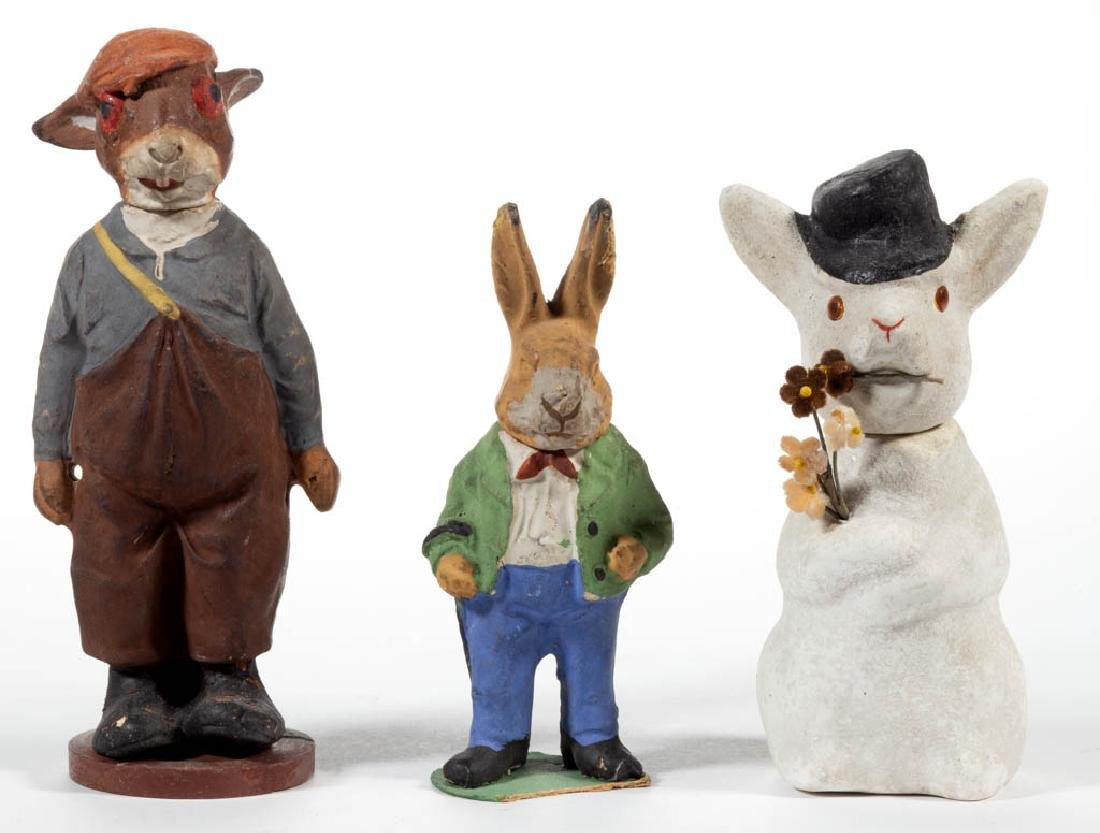 GERMAN COMPOSITION / PAPIER MACHE RABBIT CANDY
