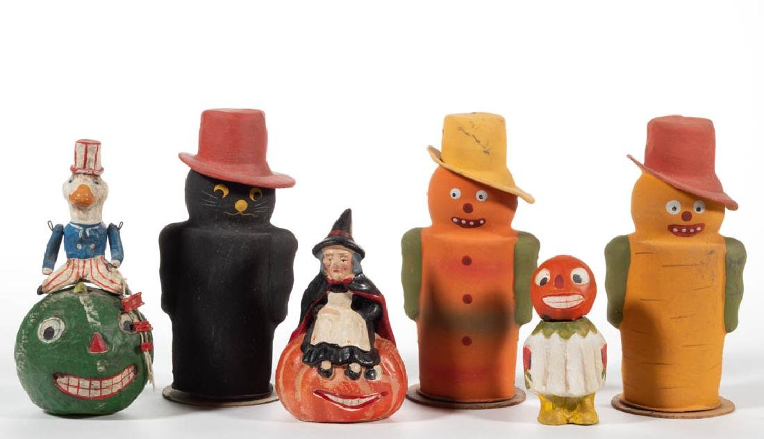 VINTAGE / REPRODUCTION HALLOWEEN CANDY CONTAINERS, LOT