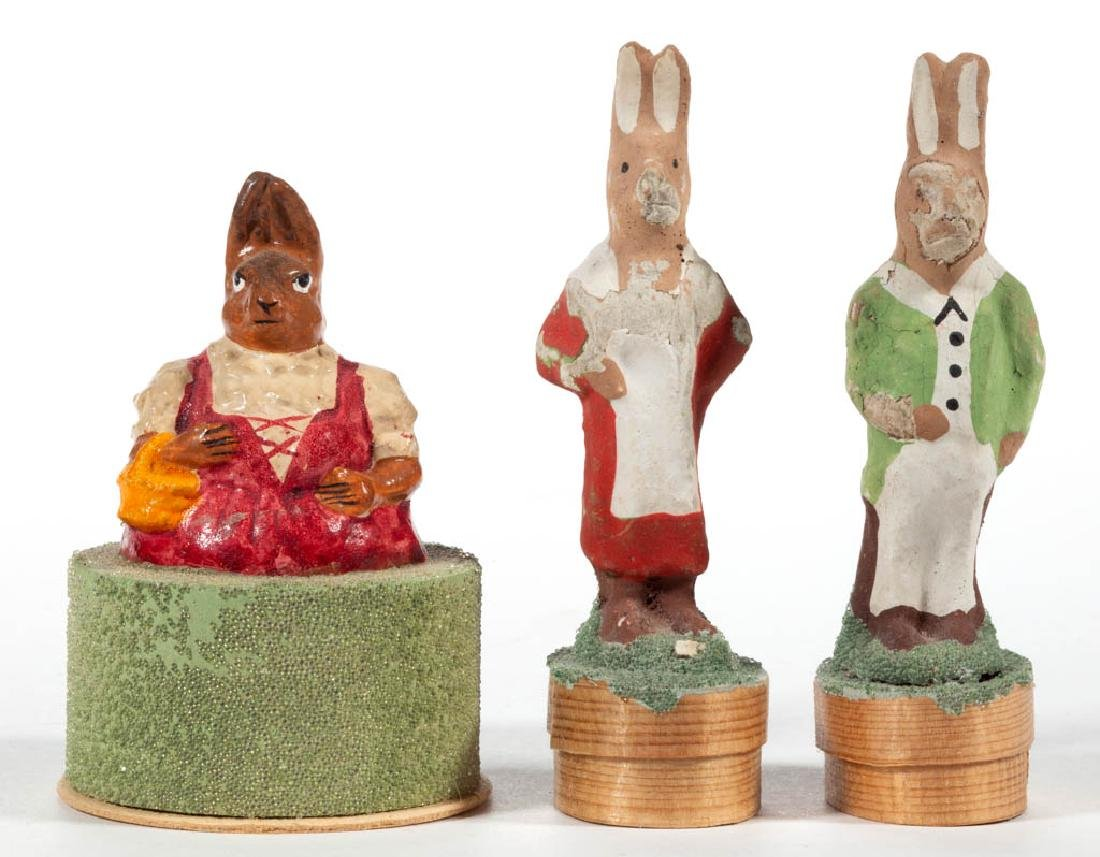 GERMAN COMPOSITION / PAPIER MACHE SMALL RABBIT CANDY