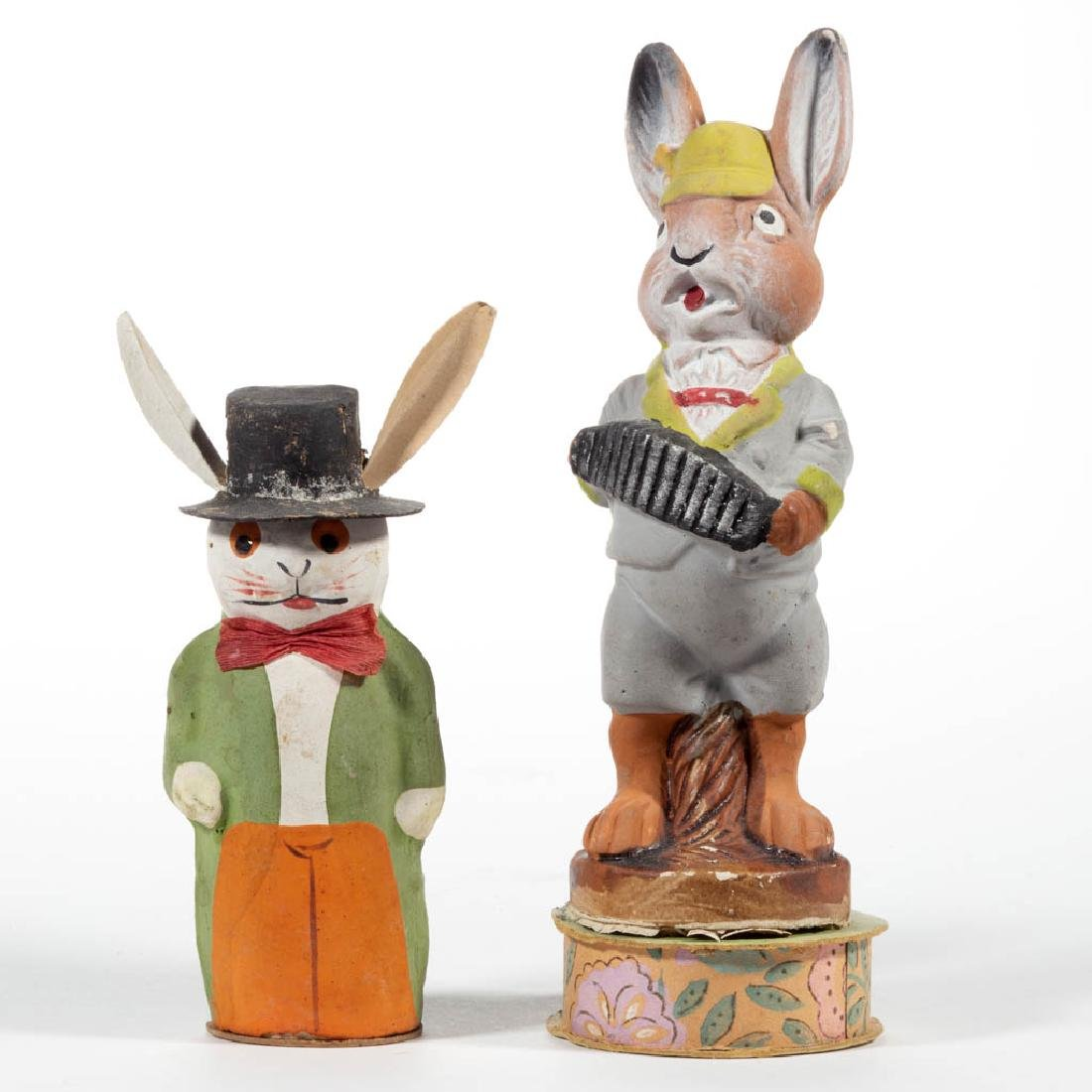 GERMAN ANTHROPOMORPHIZED RABBIT CANDY CONTAINERS, LOT