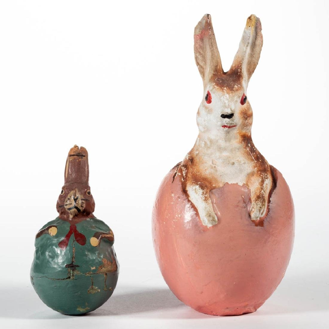 VINTAGE RABBIT FIGURES, LOT OF TWO