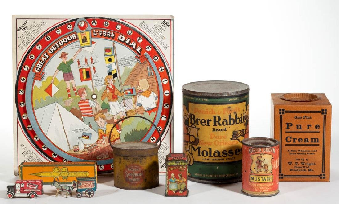 ANTIQUE / VINTAGE TIN AND OTHER ADVERTISING ARTICLES,
