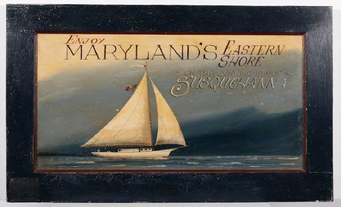 MIKE BUTLER (SUFFOLK, VA) FOLK ART PAINTED TRADE SIGN