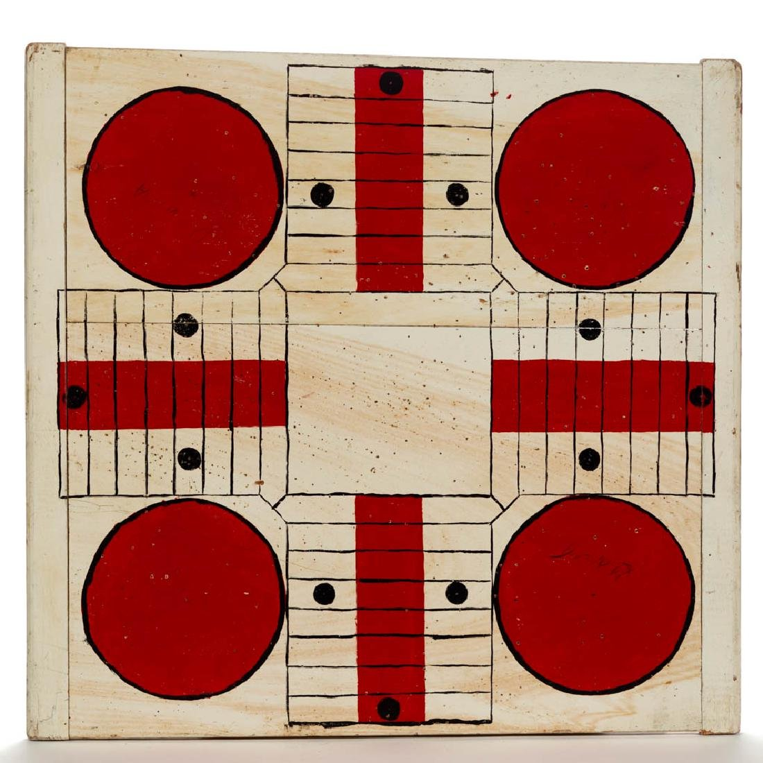AMERICAN PAINTED PINE PARCHEESI GAMEBOARD
