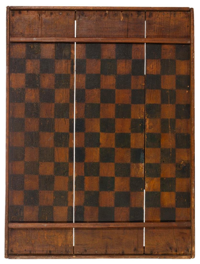 COUNTRY FOLK ART PAINTED PINE GAMEBOARD