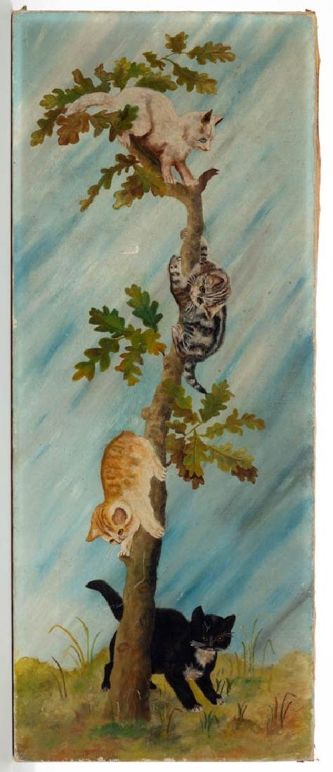 AMERICAN SCHOOL (19TH CENTURY) FOLK ART CAT PAINTING