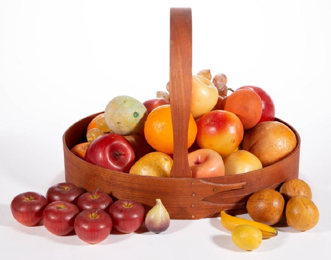 ASSORTED FIGURAL WAX AND OTHER FRUIT, UNCOUNTED LOT