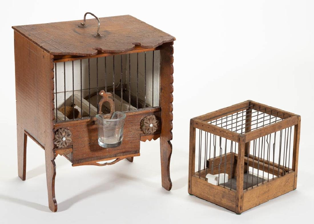 FOLK ART MOUSE CAGE