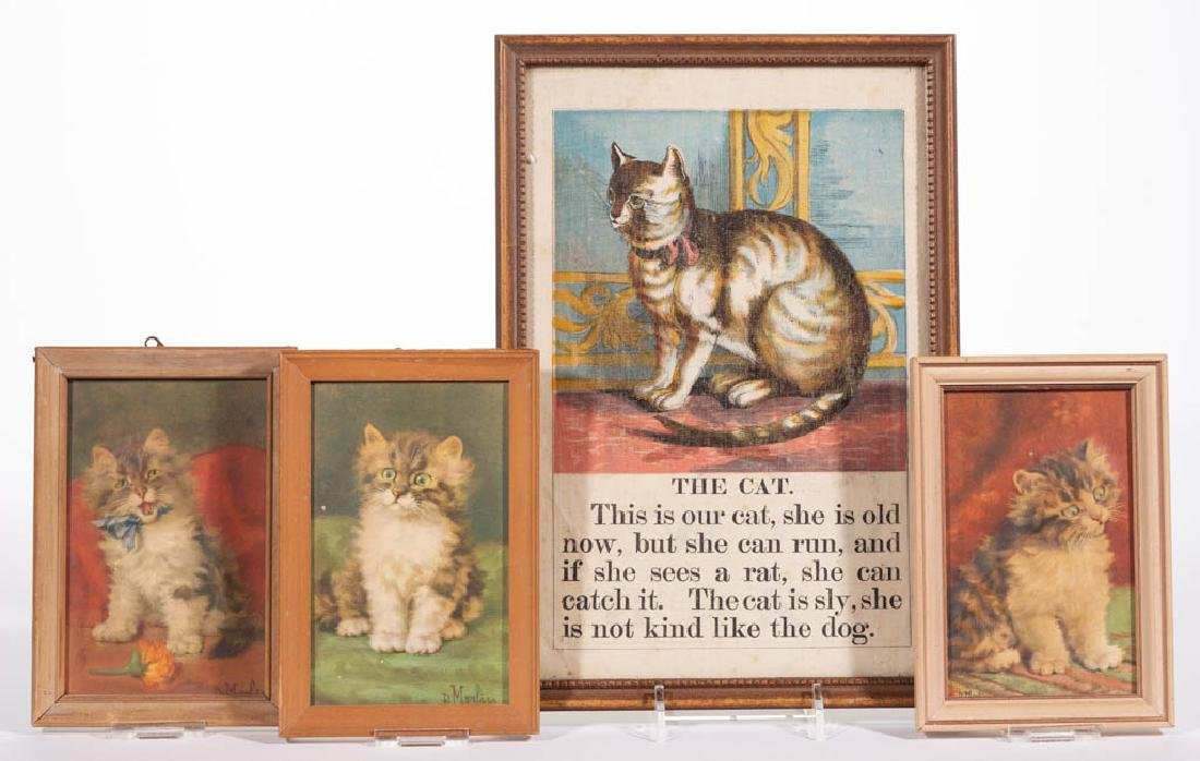 ASSORTED CAT ARTICLES, LOT OF FOUR