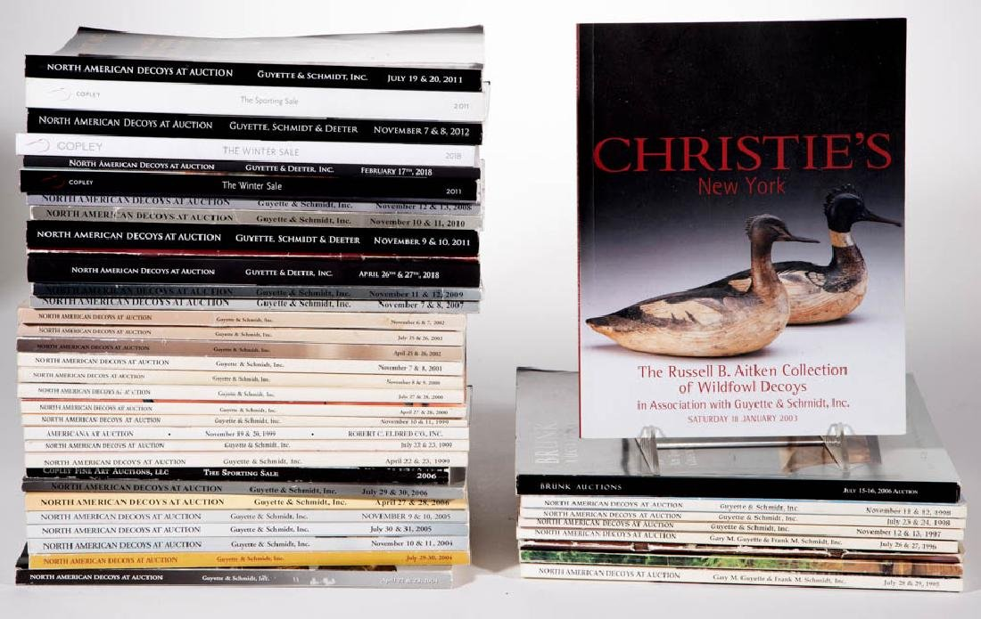 AMERICAN DECOY / SPORTING AUCTION CATALOGUES, LOT OF 41