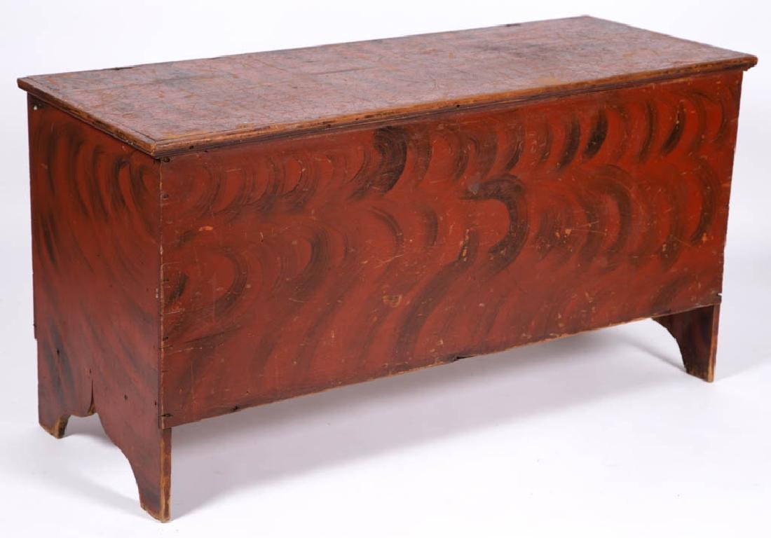 NEW ENGLAND PAINT-DECORATED PINE BLANKET CHEST