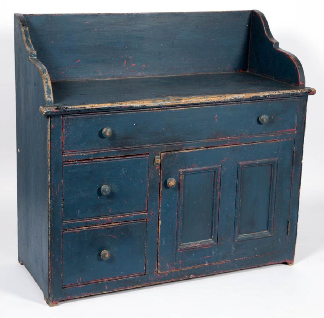 AMERICAN COUNTRY PAINTED PINE LARGE WASHSTAND