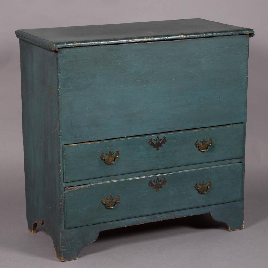 NEW ENGLAND PAINTED PINE MULE CHEST