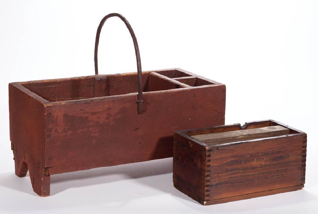 AMERICAN PAINTED PINE COBBLER'S BOX