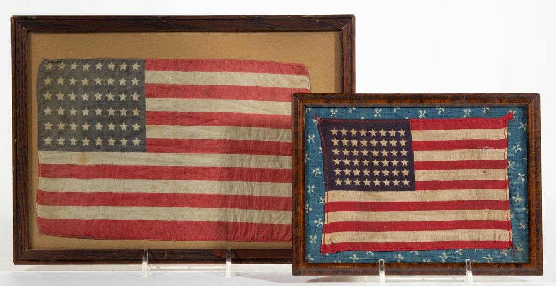 48-STAR AMERICAN PARADE FLAGS, LOT OF TWO