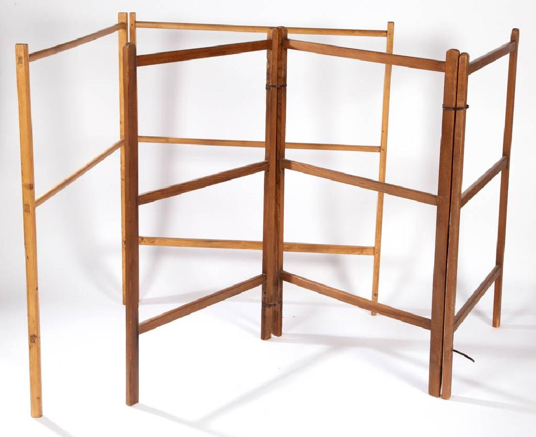 AMERICAN PINE DRYING RACKS, LOT OF TWO