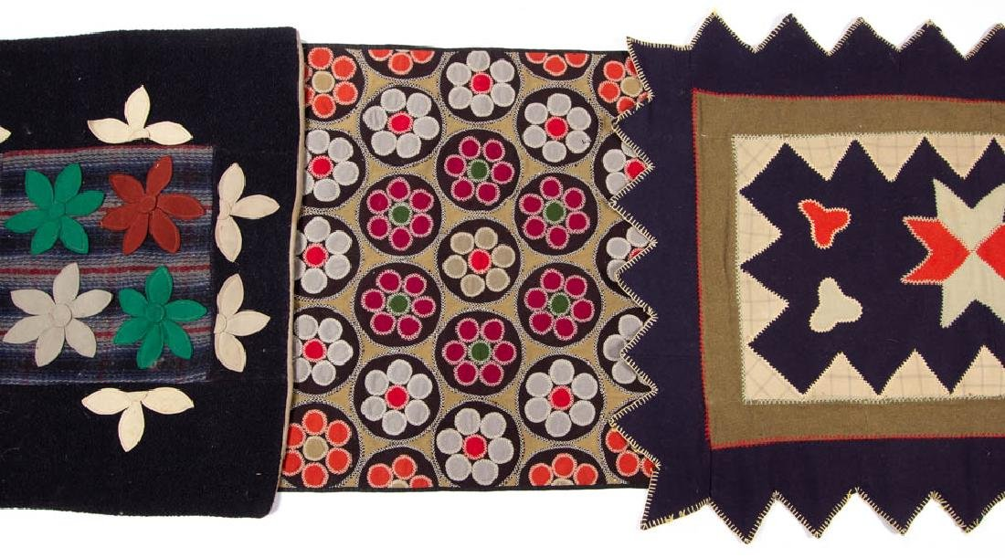 FOLK ART PENNY-STYLE AND OTHER APPLIQUE TABLE MATS /