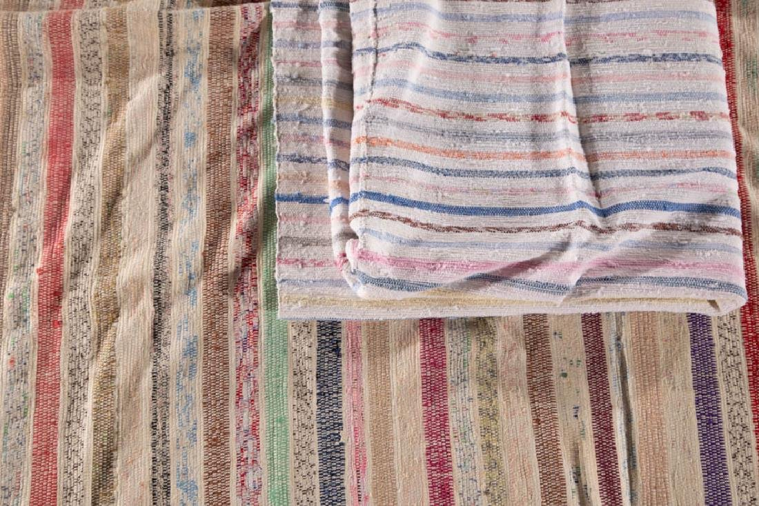 WOVEN RAG RUGS, LOT OF TWO