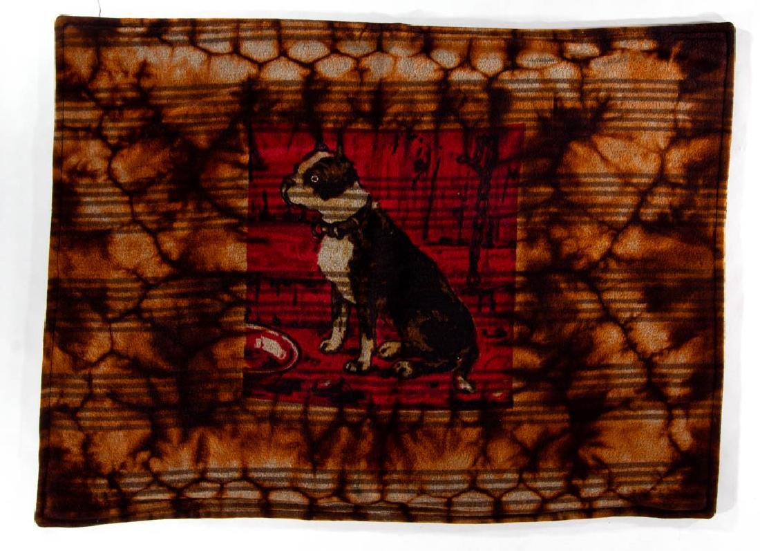CHASE & CO. BOSTON TERRIER MOHAIR CARRIAGE ROBE /