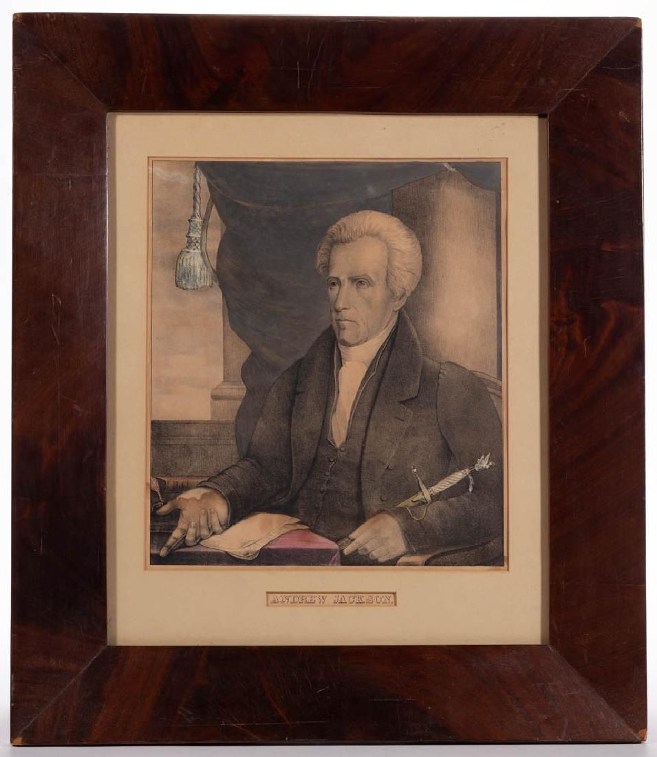 CURRIER & IVES HISTORICAL HAND-COLORED LITHOGRAPH