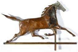 AMERICAN FULLBODY MOLDEDCOPPER RUNNING HORSE
