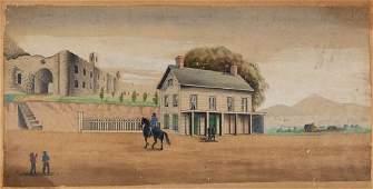 AMERICAN SCHOOL (19TH C.) FOLK ART DRAWING