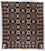 JEFFERSON CO., NEW YORK DATED DOUBLE WEAVE COVERLET